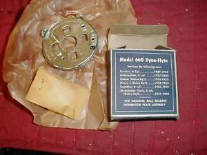 NOS 1937-59 DISTRIBUTOR BREAKER PLATE PONTIAC OLDSMOBILE KAISER HENRY J 6 CYLS