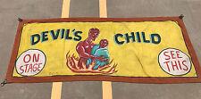 Original Sideshow Devil's Child Banner by Jack Sigler Vintage Rare Freakshow