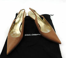 Dolce & Gabbana pumps 36 slingback marrón con tiras sandalia