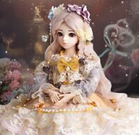 Newest Full Set Ball Jointed 1/3 BJD Dolls Eyes Free Face Female Make Up Clothes