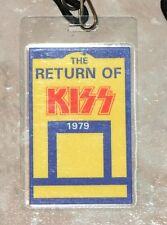 The Return of KISS 1979 USA Dynasty Tour Backstage Pass mit Band