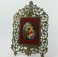 Antique Porcelain Plaque of Mother and Baby
