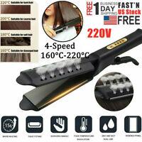 Hair Straightener Glider Flat Iron Hot Four Gear Tourmaline Ionic Steam Ceramic