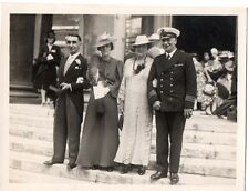 """Royal Navy Captain,Wife + Wedding Guests"" Photograph (Size 125 mm x 95 mm)"