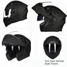 Motorcycle Dual Visor Flip up Modular Full Face Helmet DOT Approved M L XL XXL