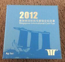 2012 China Singapore International Coin Fair UNC One Ounce Silver Coin