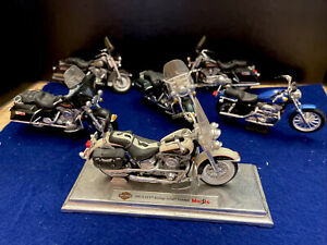 Maisto 1:18 Harley Davidson - Lot Of 6 Bikes - Motorcycle