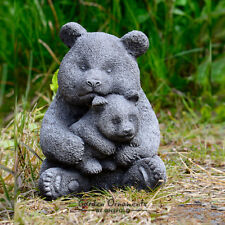 PANDA BEAR Hand Cast Stone Animal Garden Ornament Statue Patio Decor ⧫onefold-uk