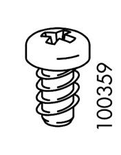 4x IKEA EURO SCREW FLAT CX STEEL 9MM PART # 100359