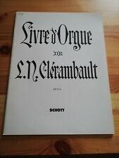 LIVRE ORGUE DE L N CLERAMBAULT SUITES Ier IIe TON GUILMANT SCHOTT ORGANISTE