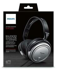Philips SHP2500 Stereo Corded Headphones Earphones TV DVD PC Music Etc - 6m Cord