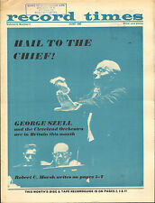 RECORD TIMES NEWSPAPER 1965 06 JUNE szell/fou ts'ong/purcell/cleveland orchestra