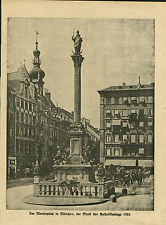 """Bild aus altem Buch """"Marienplatz München 1922""""    (OR1)"""
