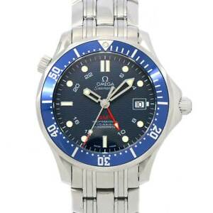 OMEGA Seamaster 300 GMT Professional Co-Axial 2535.80 Navy Dial Mens 90111430