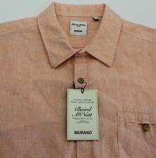 NEW Men's Murano Baird McNutt Linen Coral S/S Button Down Shirt Size XL