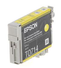 Genuine Epson T0714 Yellow Ink Cartridge for Stylus SX415 SX600FW SX515w  WOBox