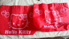 Joblot of two pieces Hello Kitty Red waterproof lunch bag beach multipurpose Bag