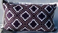 "Hallmart Collectibles Geo-Print 12 x 20"" Decorative Pillow- Purple"