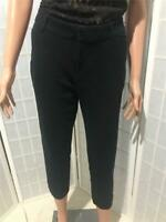 Women's Old Navy Pixie Black Sz 10 Cotton Blend Stretch Summer Capri