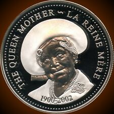 2002 Canada Silver Proof Dollar (Queen Mom)(25.175 Grams .925) Only 9,994 Minted