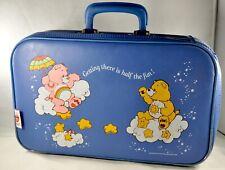 Vintage Care Bears Blue Suit Case Good Condition