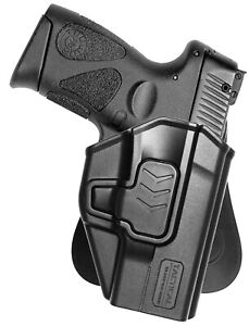 Black Nylon Gun holster Fits Ruger LC9 /& LC9S With Laser