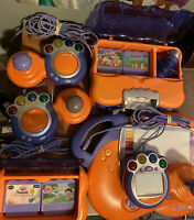 2 Vtech V.Smile TV Learning Systems 3 Controllers Wth 4 Games /Art Studio Tested