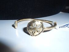 Sand Dollar, Open Cuff Bracelet. Lucky Brand Authentic,Nwt, Gold Tone,