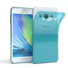 Ultra Slim Cover für Galaxy A3 (2015) Case Silikon Hülle Transparent Hellblau