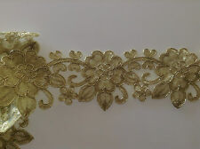 1 Yards Golden Embroidered Lace Trim DIY Sewing Crafts Vintage Decor 6.5cm Width