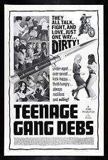 TEENAGE GANG DEBS * CineMasterpieces SWITCHBLADE KNIFE MOVIE POSTER BAD GIRL