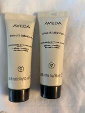 2 Aveda Smooth Infusion Nourishing Styling Creme .34 oz ~ 10 ml Sample New