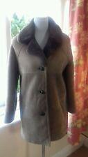 New Vintage Womens Genuine Sheepskin Shearling Coat Jacket Sz 12/14 M Ex Cond