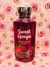 Bath & Body Works Sweet Escape Strawberry Picnic Shower Gel ~ 10 oz ~ Ships Free