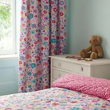 Textile Warehouse Bright Floral White Pink Tape Top Pencil Pleat Curtains