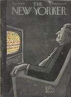 1955 The New Yorker Magazine -  May 14 - .20¢ cover - Cadillac Eldorado print ad
