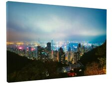 NEW YORK CITY LIGHTS CANVAS PICTURE PRINT WALL ART CHUNKY FRAME LARGE 1608-2