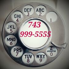 Sim Card phone number with easy vanity Premium Double Repeat 743 area code