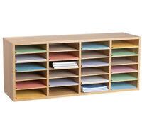 AdirOffice Medium Oak 24 Literature Organizer w/ Adjustable Shelves 500-24-MEO