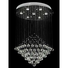 NEW Modern Lighting Crystal Cone Pendant Lamp Ceiling Light Rain Drop Evrosvet