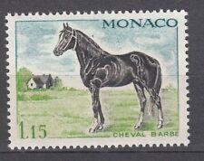 TIMBRE  MONACO NEUF N° 838 *  CHEVEAUX DE SANG CHEVAL BARBE
