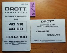 Case Drott 40 YR 40 ER Cruz-Air Owner Operator Handbook Manual 406061 M5 11/69