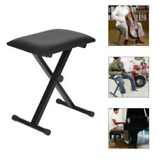 Piano Bench Adjustable Piano Keyboard Chair Padded Seat Rubber Feet Steel Stool