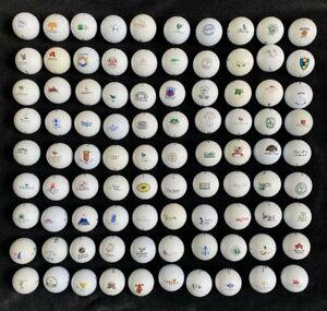 100 Collectible Golf Balls, Great Courses, Club Logos, No Duplicates SEE PHOTOS
