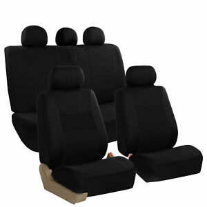 FH Group Auto Seat Covers For Car Truck SUV Van Universal Protector Cover Black