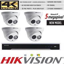 HIKVISION KITS HDMI DS-7608NI-I2/8P+ 4PCS 5MP DS-2CD2352-I DOME CAMERA CCTV
