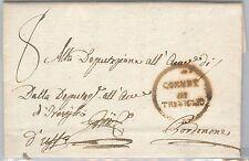 LOMBARDO VENETO  storia postale - PRECURSORI busta prefilatelica: TREVIGLIO 1819