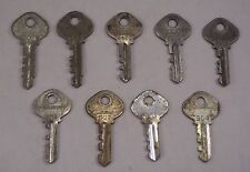 Vintage Slaymaker / Reese Numbered Padlock Lock Keys Steampunk Lot Of 9 Set 2
