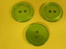 NEW 25 3/4  INCH EMERALD GREEN PEARL FINISH BUTTON 2 HOLE W/RIM