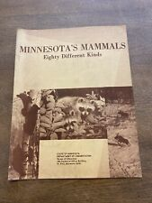 1970's Minnesota's Mammals 80 Different Kinds Carol Buckmann